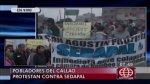 Callao: vecinos bloquearon Av. Gambetta en protesta a Sedapal - Noticias de planta taboada