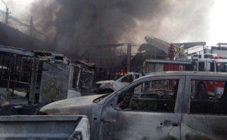 Incendio en Comas: así terminó el almacén de pinturas [VIDEO]