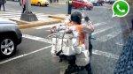 WhatsApp: ¿cuánto peso puede llevar este motociclista? - Noticias de motociclista imprudente