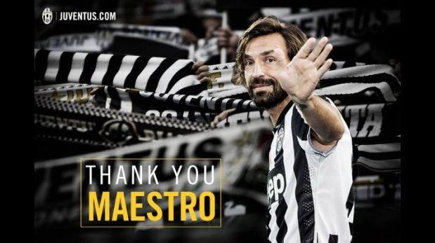 Juventus anunció oficialmente la salida de Andrea Pirlo