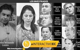 Los principales investigados por la Comisión Belaunde Lossio