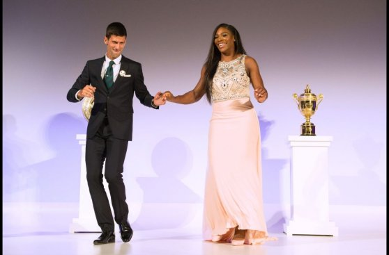Djokovic y Serena: campeones bailaron en gala de Wimbledon
