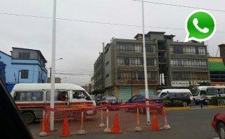 WhatsApp: hicieron desfile y dejaron esto en plena Av. Angamos