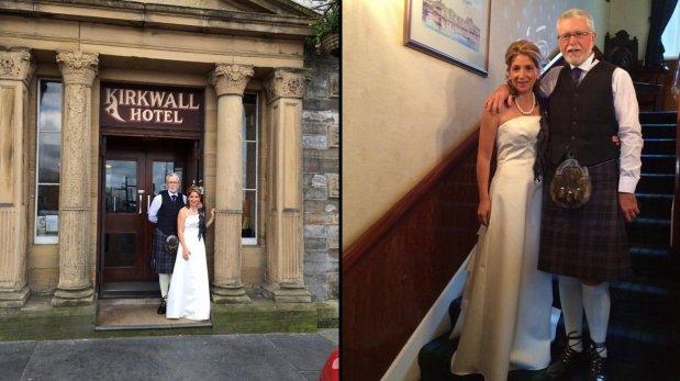 Comunidad ayuda a novia que perdió su vestido durante su viaje