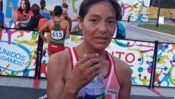 Inés Melchor decidió correr contra la recomendación del médico