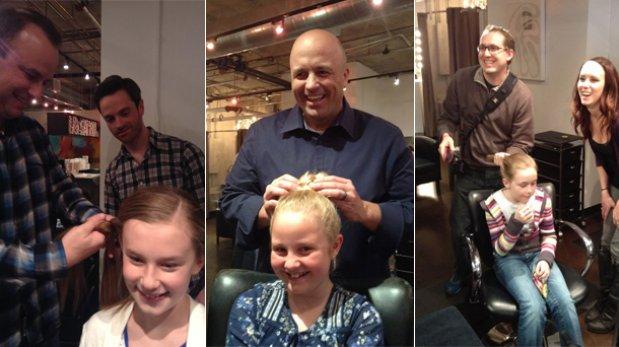 Padres a la obra: en este salón aprenden a peinar a sus hijas