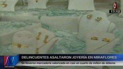 584ea53dcc97 Asalto a joyería de Miraflores  robaron más de 2 kilos de oro
