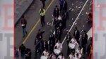 Fiestas Patrias: protestan con pintura blanca en Plaza de Armas - Noticias de te deum