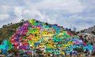 Un colorido mural transforma y alegra un barrio en México
