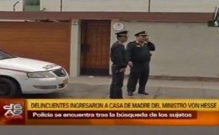 Surco: roban en casa de madre de ministro Milton Von Hesse