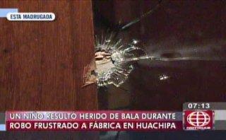 Carapongo: niño herido por bala perdida tras robo frustrado
