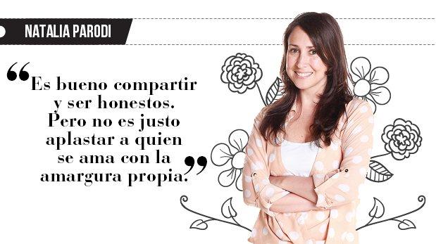 """Natalia Parodi: """"Mi marido no es mi basurero"""""""