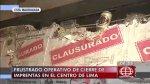 Cercado de Lima: violencia en intento de desalojo de imprentas - Noticias de series tv