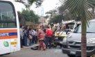 Choque en Lince: ocho heridos tras colisión de combi y coaster