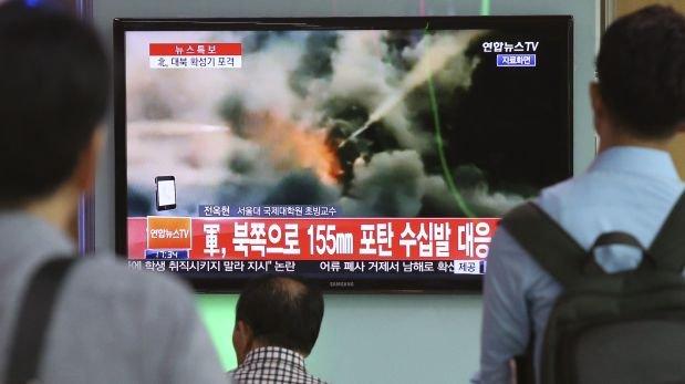 Corea del Norte y del Sur intercambian disparos de artillería