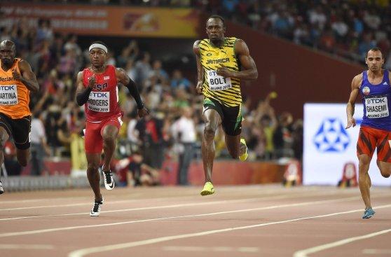 ¿Corren o vuelan? Las impresionantes fotos de Bolt y Gatlin