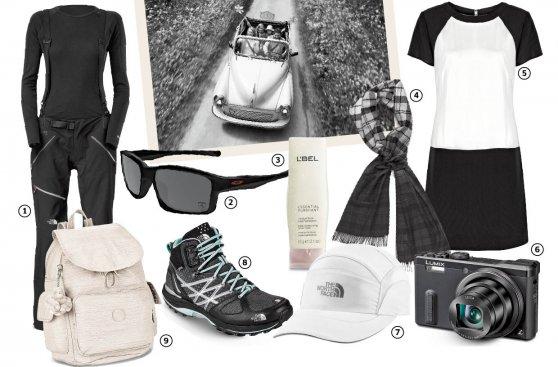 Un look blanco y negro para viajar