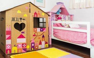 Aprende a hacer una pequeña casa de cartón