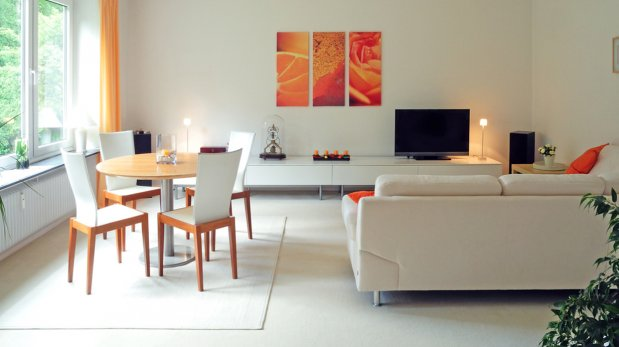 Sala Comedor Espacios Pequeños : Opciones para separar el espacio de la sala y el comedor ideas y