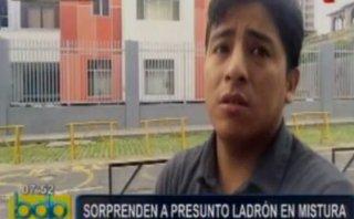 Mistura: acusado de intentar robar ante cámaras se defendió así