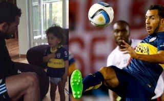 Carlos Tevez y el video con su hijo que habla del amor por Boca