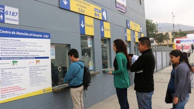 Metropolitano: tarjetas universitarias vencen 30 de setiembre