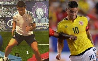 """James Rodríguez muestra con foto cómo se recupera: """"Con fe"""""""