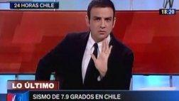 Terremoto en Chile: réplica sorprendió a un programa en vivo