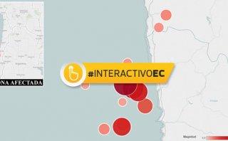 Terremoto en Chile tuvo 23 réplicas en tres horas [INTERACTIVO]
