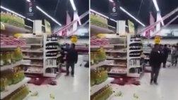 Hombre aprovechó terremoto para robar botella de vino [VIDEO]