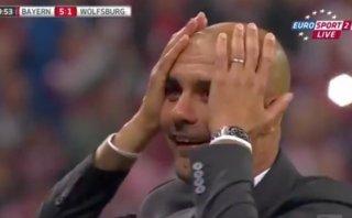 Lewandowski: la reacción de Guardiola tras sus cinco goles