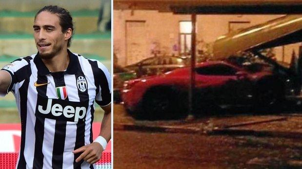 Uruguayo Cáceres chocó su Ferrari y dio positivo en alcoholemia
