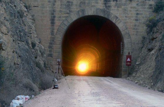¿Te imaginas poder tomar sol dentro de un túnel en Aragón?