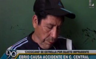 Peatón ebrio provocó accidente con 20 heridos y así reaccionó