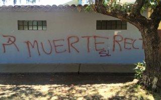 PNP investiga estas pintas en Universidad Nacional de Cajamarca