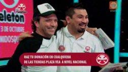 Teletón 2015: Carlos Galdós y Aldo Miyashiro condujeron juntos