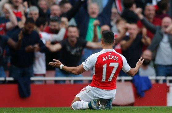 Alexis Sánchez: goles y celebraciones en la victoria de Arsenal
