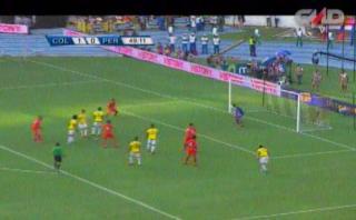 Selección peruana: Paolo Guerrero disparó y pegó en el parante