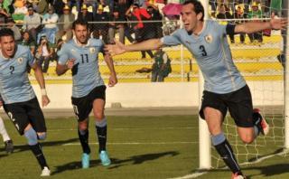 Uruguay ganó 2-0 a Bolivia en La Paz en inicio de Eliminatorias