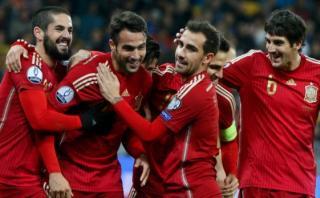 España ganó 1-0 a Ucrania con gol del debutante Mario Gaspar