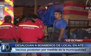 Ate: bomberos fueron desalojados de terreno por municipalidad