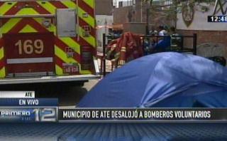 Alcalde de Ate sobre desalojo de bomberos: es un tema político