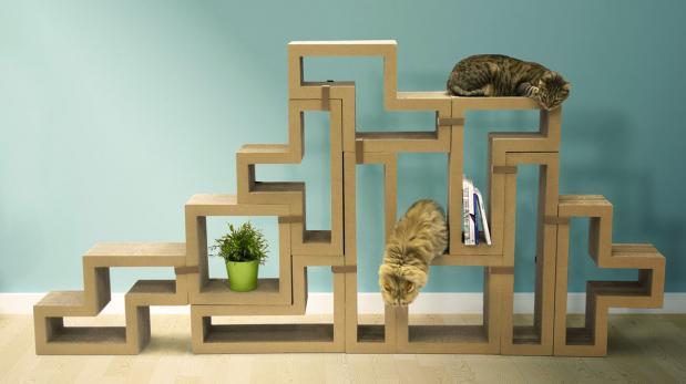 Katris, el mueble inspirado en tetris y pensado para los gatos