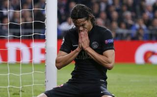 Cavani falló solo frente al arco el empate ante Real Madrid
