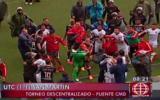 Lamentable: patadas y puñetes al final del duelo San Martín-UTC