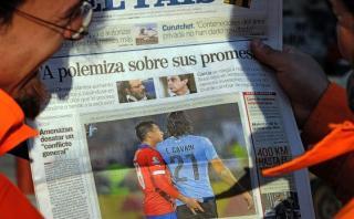 Gonzalo Jara se molestó porque le recordaron caso con Cavani