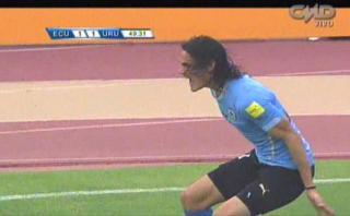 Uruguay: Edinson Cavani le anotó este gol de cabeza a Ecuador