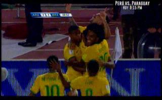 Brasil: Lucas Lima de volea marcó este gol a Argentina