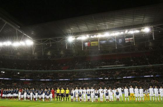 Francia vs. Inglaterra: fotos de emotiva ceremonia en Wembley