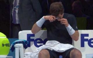Murray se cortó el pelo en pleno partido ante Rafael Nadal
